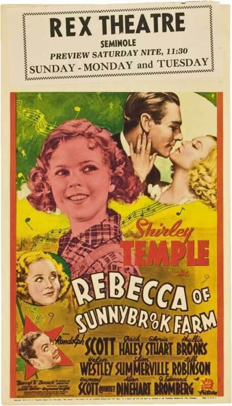 REBECCA OF SUNNYBROOK FARM Movie POSTER 20x40 Shirley Temple Randolph Scott Jack