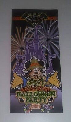 Halloween Scary Events (2005 Mickey's Not So Scary Halloween Party Event Guide)