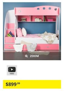 Kids bunk bed with stairs