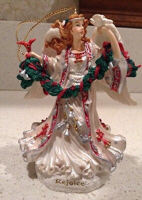 Rejoice Angel Musical Ornament San Francisco Music Box Company Silent Night Xmas