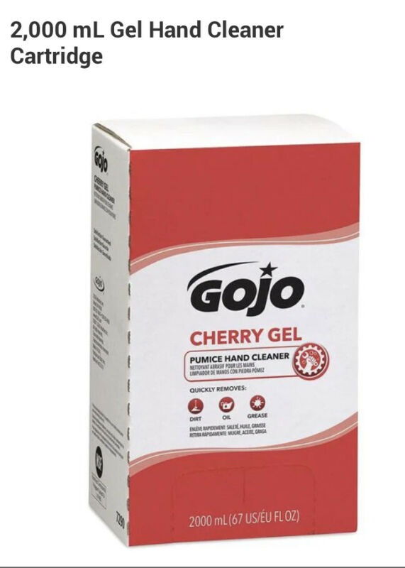 Gojo 7290-04 2,000 Ml Gel Hand Cleaner Cartridge SALE!!!