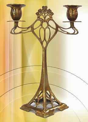 Kerzen Leuchter im Jugendstil Bronze Lampe Geschenk Vintage Ästhetik TWOLIGHT 1