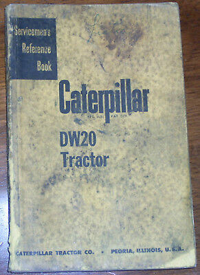 Caterpillar Dw20 Tractor Servicemens Reference Manual