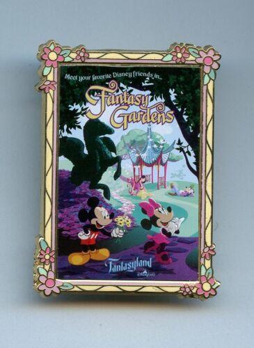 WDI Disney Fantasy Gardens Mickey Minnie Mulan Mushu Goofy Poster Cast 500 Pin