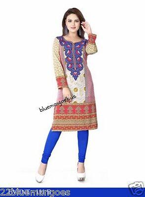 Indian Bollywood Kurta Kurti Designer Women Ethnic Dress Top Tunic Pakistani xl