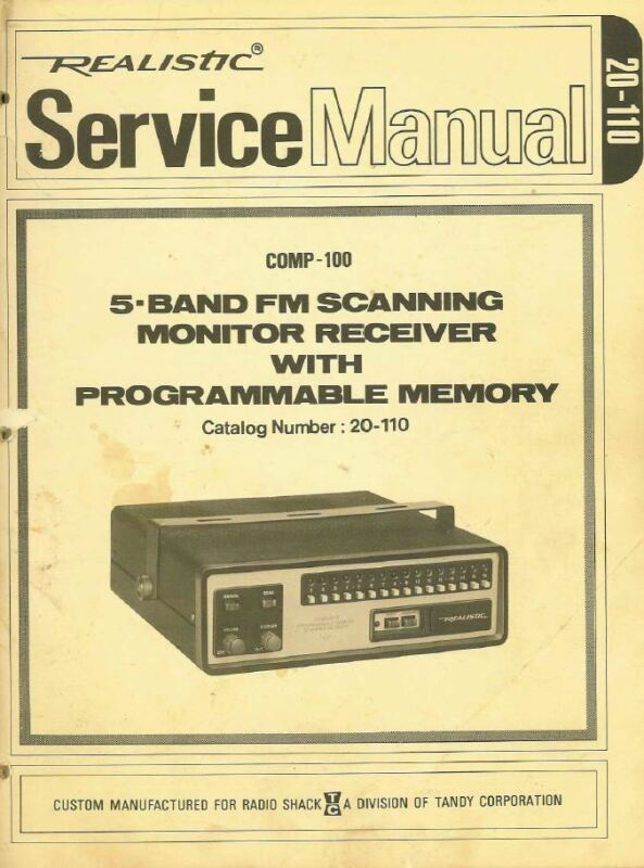 Radio Shack Scanners Manuals