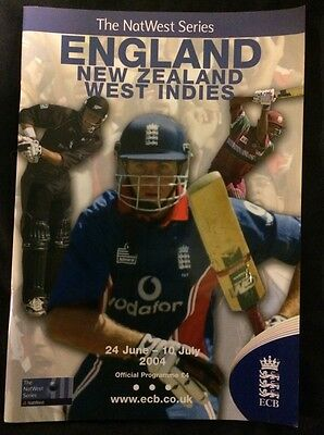NatWest One Day Series Programme 2004. England, West Indies, New Zealand