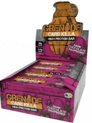Grenade Carb Killa Box Of 12 Dark Choc Raspberry NEW FLAVOUR!!