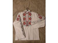 Traditional Bulgarian shirt with handmade embroidery