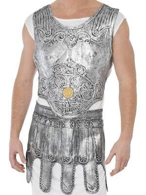 Smi - Karneval Kostüm Zubehör Römer Brust Rüstung silber Brustschild - Brust Rüstung Kostüm