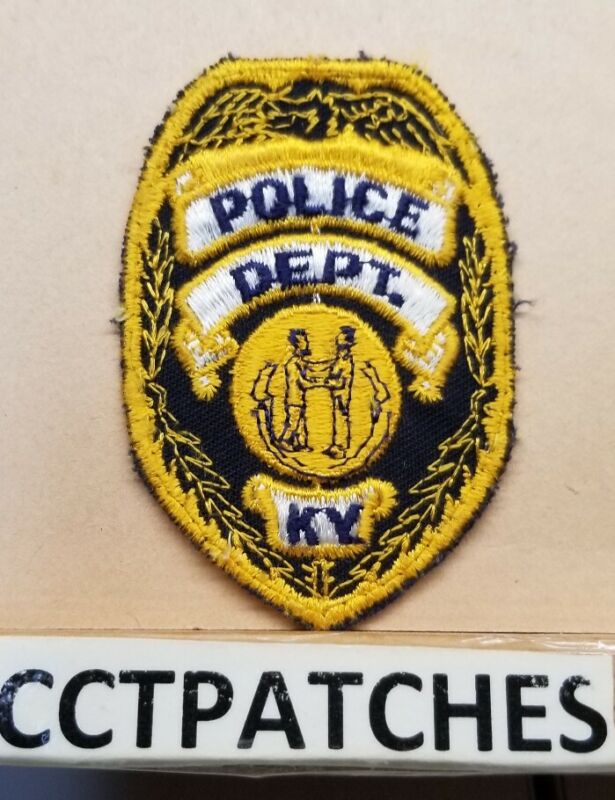 """KENTUCKY POLICE DEPARTMENT (GOLD) 2"""" BY 3"""" PATCH KY"""