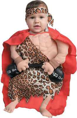 Funny Infant Mini Strong Muscle Man Baby Boy Bunting Costume 0-6 months - Strong Man Baby Costume