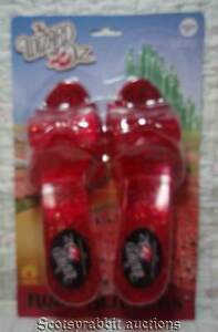 NEW Unused WIZARD OF OZ Dorothy's RED RUBY SLIPPERS Kids COSTUME SHOES