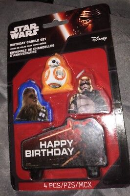 Disney Star Wars The Force Awakens Birthday Party Cake Decoration Candles New](Star Wars Cake Decoration)