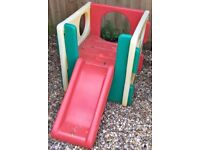 Little tikes climbing frame cube with slide very bright colours