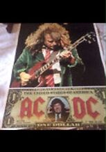 ACDC Poster 57 cm 79 cm AC DC and Gaming Chips Oatley Hurstville Area Preview