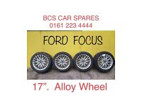 """Ford. Focus. Alloy wheels inc tyres. 17"""""""