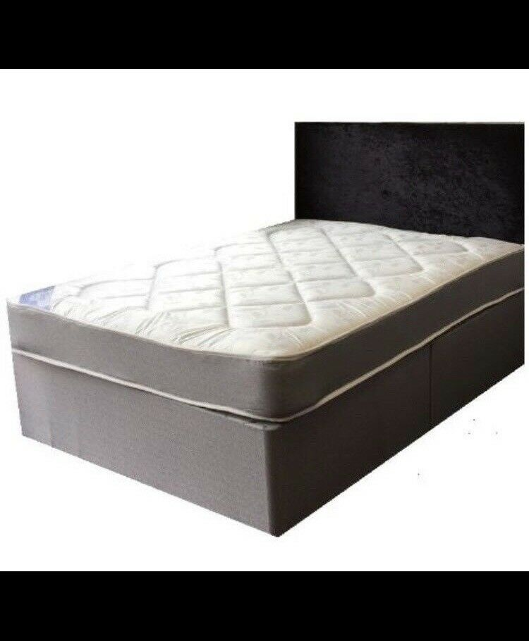 Double Divan Bed Mattress And Base Only 119 Free Delivery