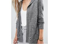 Hollister grey hooded cardigan size S small