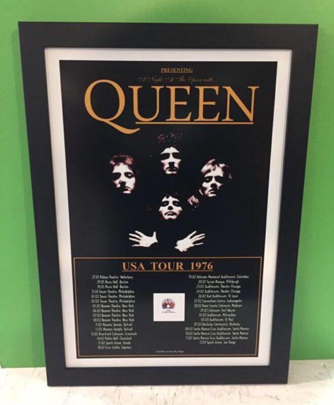 Queen 1976 U.S. Tour Framed Poster