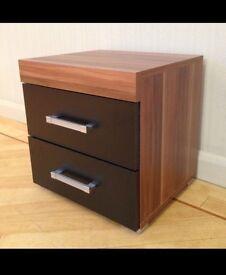 3 piece, Black and walnut bedroom furniture!