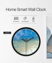 12'' Beach Luminous Wall Clock Quartz Night Glowing Clock Living Room Decorative
