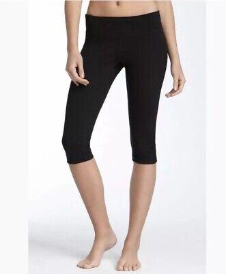 Zella Live In Crop XS Black Capri Legging Pant Knicker Yoga Workout