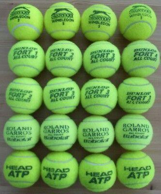 20 Used Tennis Balls plus Tubes
