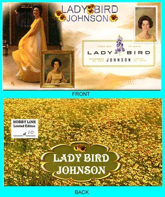 Lady Bird Johnson First Day Cover with Color Cancel Type 1