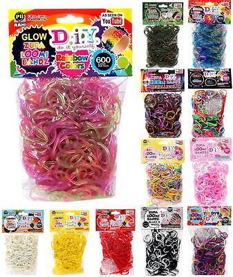 DIY ZUPA LOOMI BANDZ kit loom rubber band bracelets 600 bands/pack - Pick Color! - Rubberband Bracelet