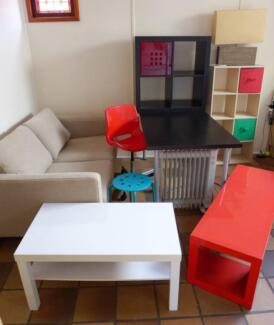 IKEA furniture (coffee&desk table+chair), shelving unit, sofa) North Narrabeen Pittwater Area Preview