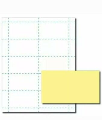 Canary Yellow Business Card Printer Paper 26 Sheets Yields 260 Cards