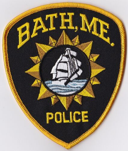 Bath Police Maine ME Police Patch