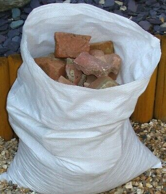 50 x Tough Woven Polypropylene Builder Rubble Sacks Bags *ULTRA STRONG * 45 X 58