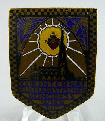 Emailliertes Tagungsabzeichen XXIII Internat.Eucharistischer Kongress Wien 1912