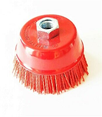4 Nylon Infused Abrasive Bristle Cup Brush Wheel Wire 58-11 Angle Grinder