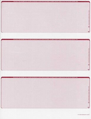 Blank Check Stock - 300 checks Blank Security Check Stock Paper - 3 Per Page - (Classic Burgundy)