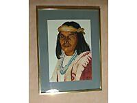 Native American Portrait (Framed)