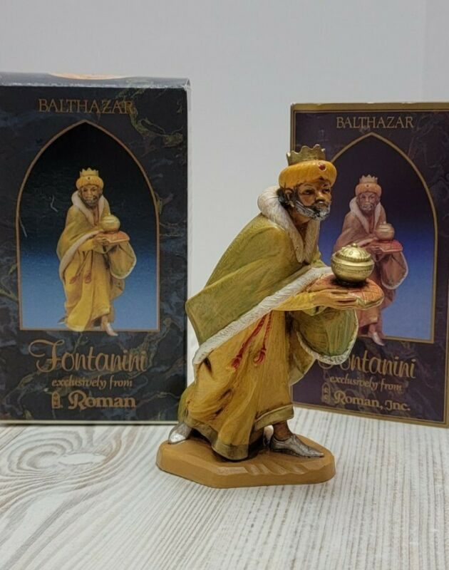 Fontanini 1992 Balthazar King With Censor Depose Christmas Nativity Figure 72516