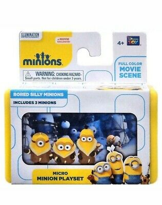Full Movie Minions (Minions Micro Minion Set-Bored Silly Minions- Full Color Movie Scene & 3)