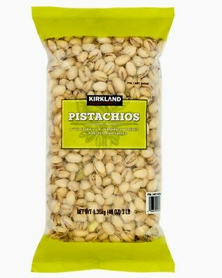 Salted California Pistachios - Kirkland Signature California Pistachios US #1 3lb Bag Roasted & Salted In Shell