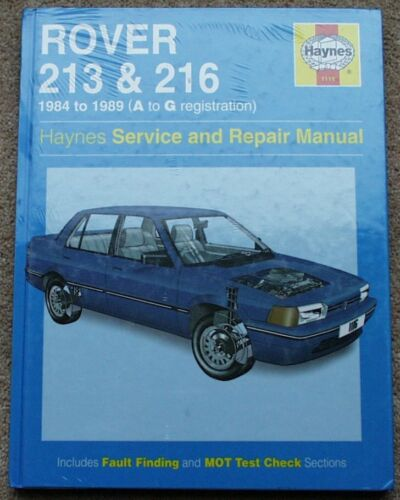 ROVER+213+216+Haynes+Manual+BRAND+NEW+SEALED+1116+84-89+MINT+Free+UK+P%26P