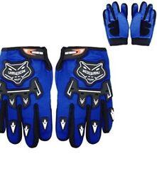 Kids motorbike helmet gloves and goggles