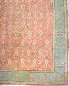 19x20-ANTIQUE-1890-OUSHAK-ORIENTAL-HAND-KNOTTED-WOOL-AREA-RUG-CARPET