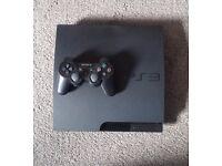 SONY PS3 SLIM 150GB - 10 GAMES (LAST OF US, GTAV, COD: MW3, BIOSHOCK INFINITE) - 1 X CONTROLLERS