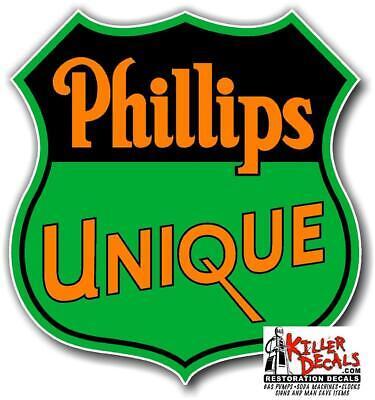 "(PHIL6) 3"" PHILLIPS 66 UNIQUE GASOLINE DECALS GAS AND OIL STICKER"