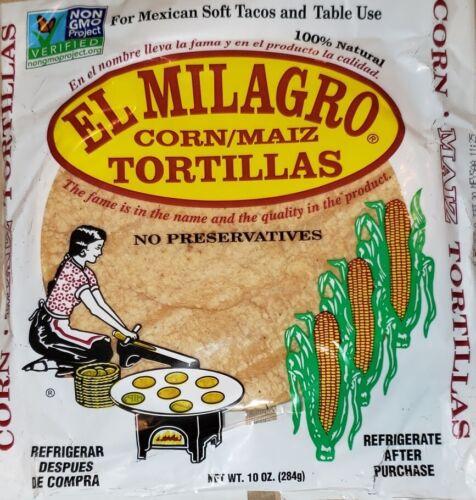 El Milagro Corn Tortillas Tortillas de Maiz  choose 6, 12, 16, 24 or 48 Packs