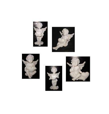 Engel Figur Deko klein weiß 4,5 - 6,5 cm hoch Weihnachten Geschenk eul066