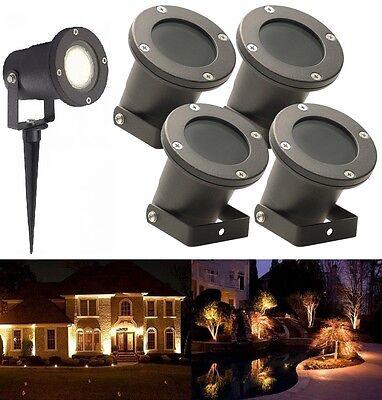 4X 3W GU10 LED Außenleuchte Wegbeleuchtung Bodenleuchte Gartenstrahler Licht