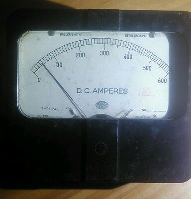 Roller Smith - 0 To 600 D.c. Amperes